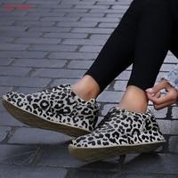 Luxury Shoes Women Fashion Footwear Height Increase Girl Female Leopard Retro Comfort Golden Flat Shoes Summer Sapato Feminino