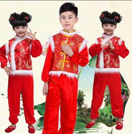 2016 Costume For Kids Chinese Traditional Dress Girl National Style Cheongsam Costumes New Year Dresses Christmas