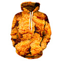 Beer And Fried Chicken Sweatshirts Funny Full Print Hooded Yellow Hoody European And American Young Style Men Women Hoodie Tops