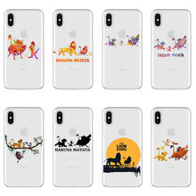 Lion king Pumba HAKUNA MATATA soft TPU phone cover case for iPhone Max XS XR X10 watercolor art 5 5SE 6 7 8Plus