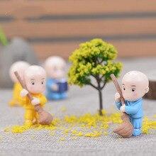 Chinese Kung Fu Little Monks Fairy Garden Miniatures Figurin