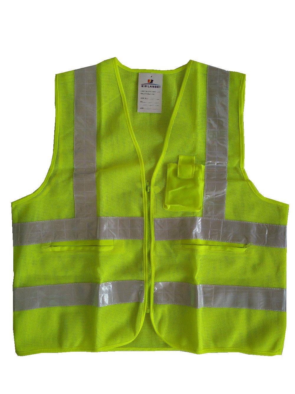 Safety Vest Yellow Mesh Vest Traffic Fluorescent light PVC Tape