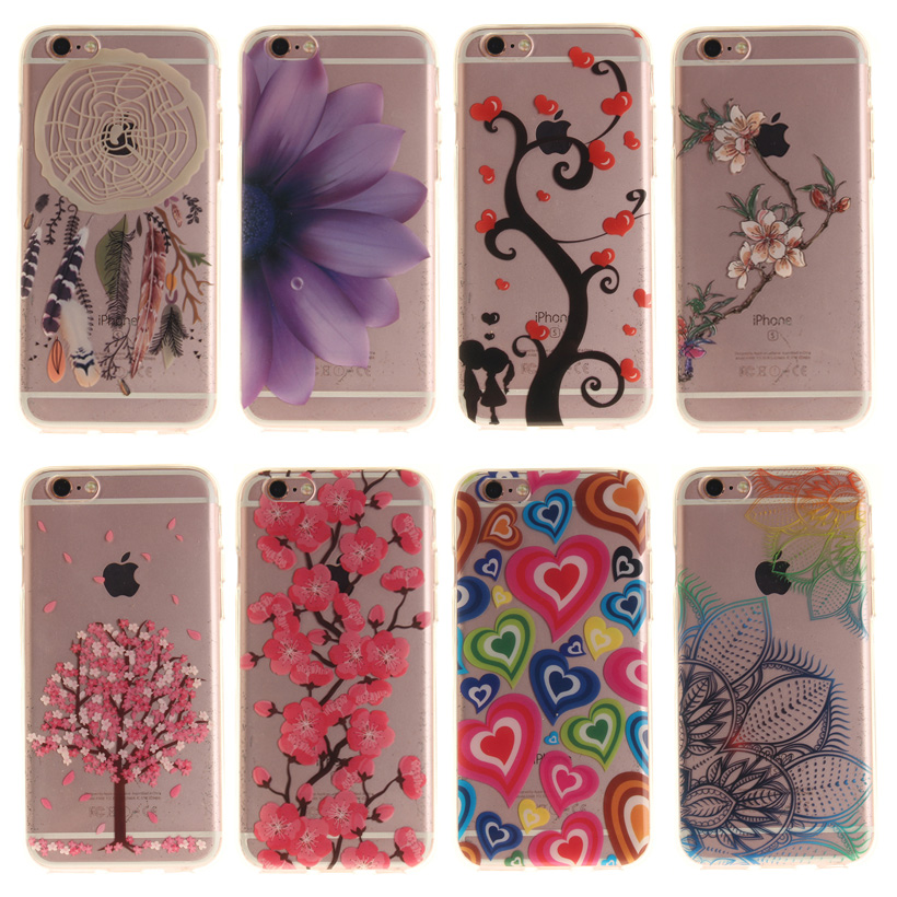 AKABEILA Phone Cases For Apple iPhone 6S 6G iphone6 S 4.7 inch Covers Bag Shield Flower  ...