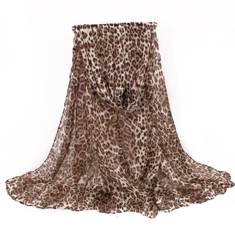2017 divat márka tervező Classics Voile női sál leopárd design meleg téli kendő Oversize220 * 80cm