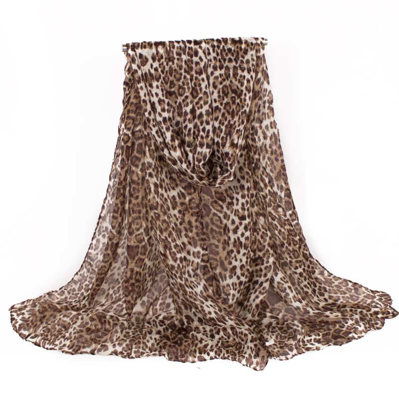2017 Fashion Brand Designer Classics Voile Women Scarf With Leopard Design Warm Winter Shawls Oversize220*80cm