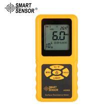 SMART SENSOR AS982 Portable surface resistance meter tester Handheld Earth Resistance Meter Data Holding function LCD display