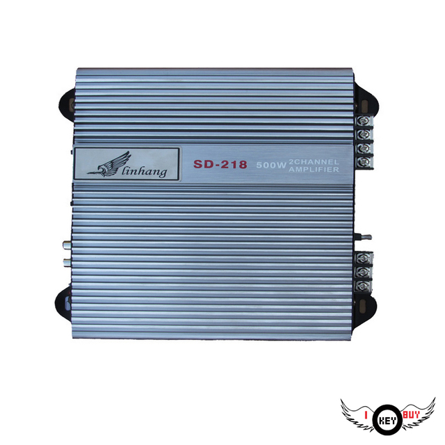 Best Offers High Power 12V 2-Way Car Amplifier Subwoofer Audio HiFi Auto Amplifiers 60W*2 Aluminum Alloy 4Ohm