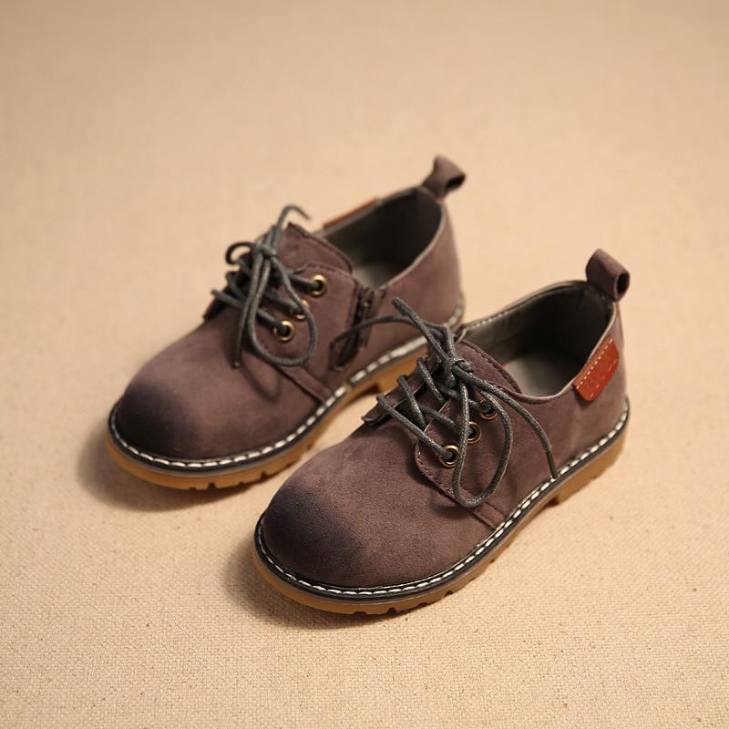 2017 ילדים מקרית נעליים ילד PU עור נעלי ספורט רטרו סגנון ילדים ילדים וינטג עור מרטין Boots נעלי ספורט