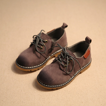 2017 Children Casual Shoes Child PU Leather Sport Shoes Retro Style Child Kids Vintage Leather Martin