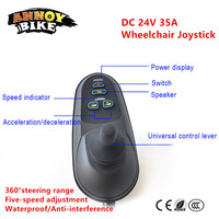 DC 24V 35A Joystick Controller Wheelchair Brushed Electric Motor Scooter With Electromagnetic Brake Mobility Knob Grip Remote