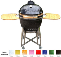 23.5inch Ceramic BBQ Grill Pizza Oven Charcoal Wood Burning Stove Cermic Pizza Oven Barbecue Grill Accessories For Ourdoor Campi