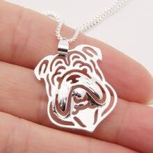 1 шт ожерелье в виде бульдога с 3d вырезами кулон щенка собаки