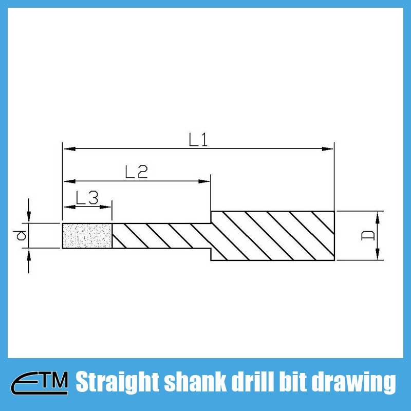 Straight-shank-diamond-drill-bit-drawing
