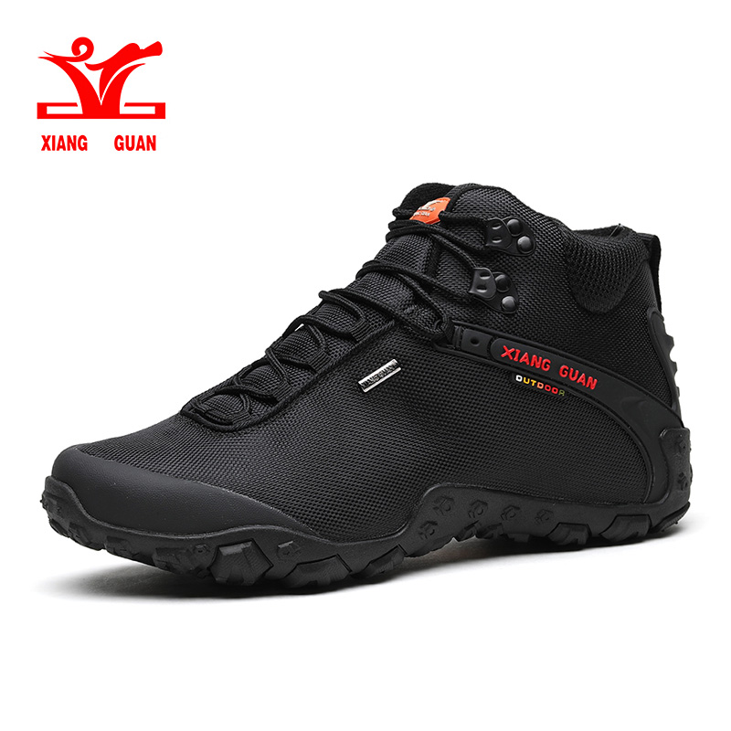 xiang guan Man Outdoor Hiking Shoes Athletic Trekking Boots black breathable male Climbing Travel Walking Sneakers 36-48 цена и фото