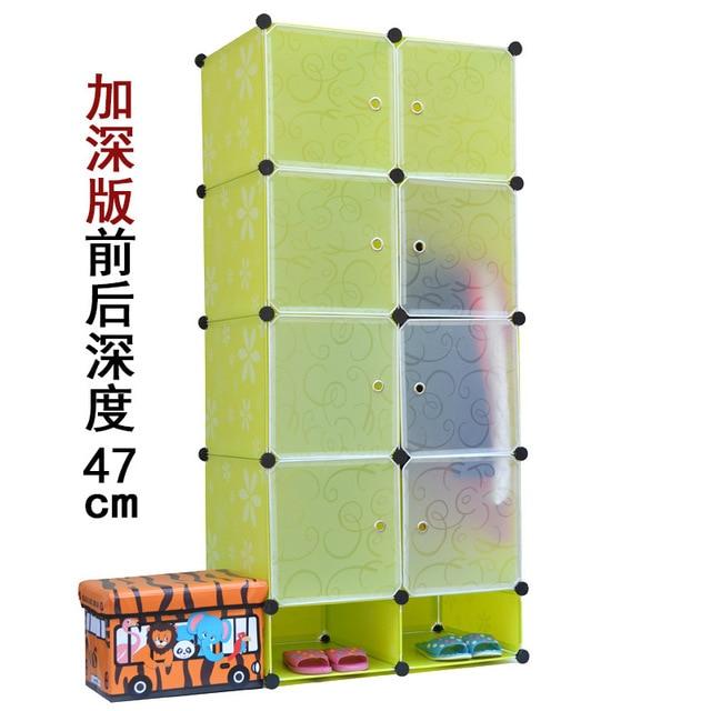 2016 Promotion Armoire Armadio 8 Cubes Easy Diy Magic Wardrobe Portable Closet Garage Storage Cabinets Free Standing Organizers
