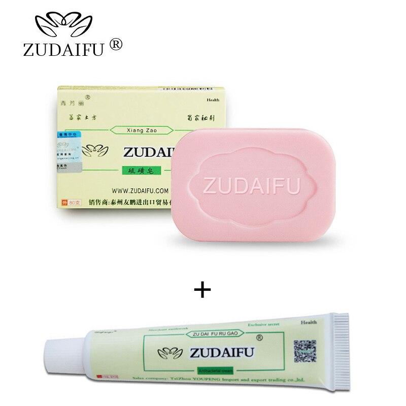 где купить Psoriasis Antibacterial Cream Sulfur Soap ZUDAIFU Handmade Chinese Herbal Restrain Bacterium Sulphur Soap Whitening Bath дешево