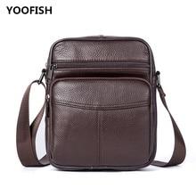 купить Free Shipping Casual Black/Coffee Genuine Leather men's bag business men's bag briefcase shoulder messenger bag. дешево