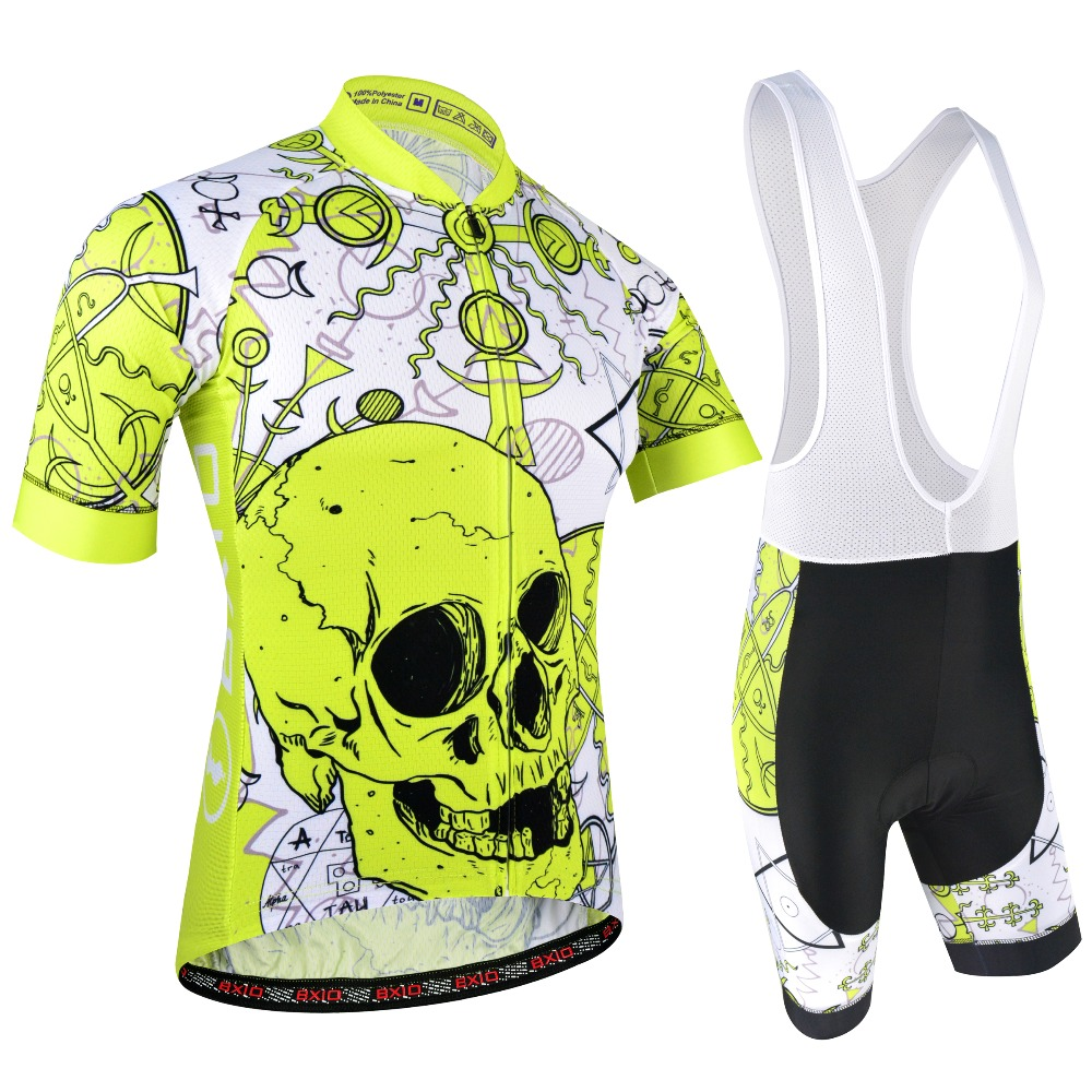 XSG290 Mens Team Cycling Short Sleeve Jersey Bib Shorts Sets