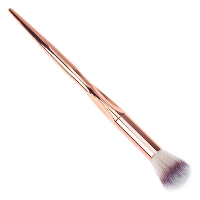 1Pc Face Blush Powder Brush Bronzer Makeup Brush Cosmetic Tool Soft Kabuki Foundation Contour Beauty Brush Wood Handle 1pc beauty women powder brush single soft face cosmetic makeup brush big loose shape maquiagem