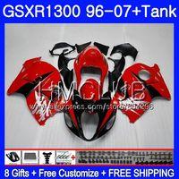 Обтекателя красный черный для SUZUKI Hayabusa GSXR 1300 GSXR1300 96 97 98 99 00 01 26HM. 8 GSX R1300 1996 1997 1998 1999 2000 2001