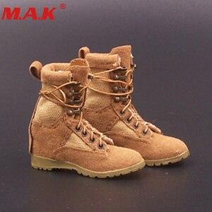 1/6 масштабные женские армейские сапоги для девочек, модель, песочный желтый цвет, полная подкладка для 12 дюймов, женские или мужские ботинки,...