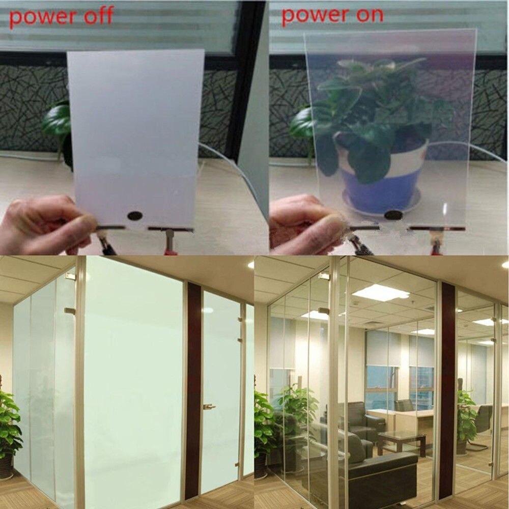 50 cm x 100 cm PDLC Film intelligent verre/écran de projecteur/cloison de salle rideau intelligent mise sous tension transparent mise hors tension opaque