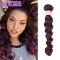 Good Cheap 5 Bundles 99j Red Brazilian Loose Wave 7A Grade Brazilian Hair Weave Bundles Best Remy Human Hair Tissage Bresilienne