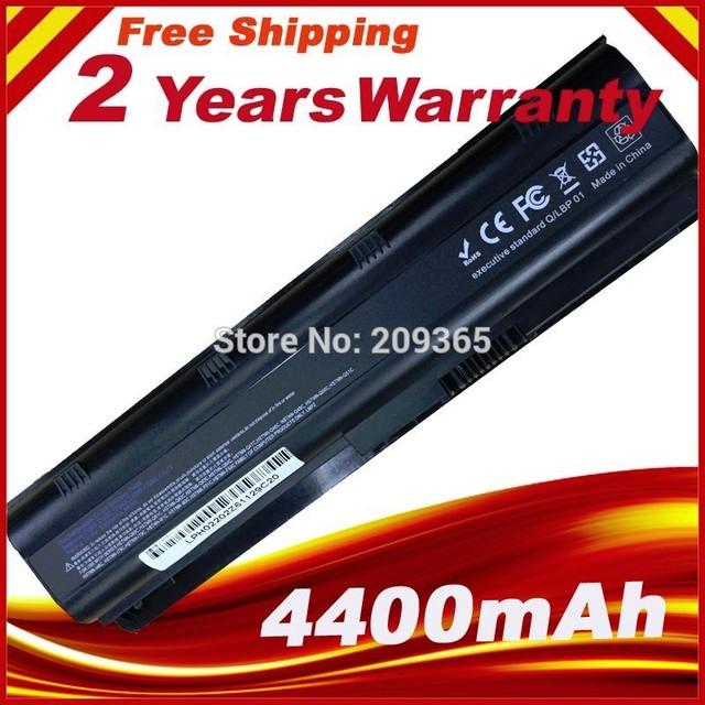 5200 mah reemplazo mu06 batería del ordenador portátil 593553-001 para hp g62 g72 cq42 dm4 notebook pc