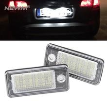 Canbus светодиодный номерной знак светильник номерной знак лампа для Audi A3 A4 S4 RS4 B6 B7 A6 RS6 S6 C6 A5 S5 2D Кабриолет Q7 A8 S8 RS4 Avant
