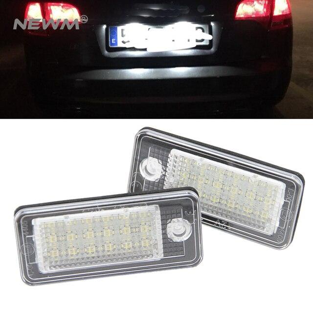 Canbus LEVOU placa De Licença lâmpada número da placa de luz para Audi A3 A4 S4 RS4 B6 B7 A6 RS6 S6 C6 a5 S5 2D Cabrio Q7 A8 S8 RS4 Avant