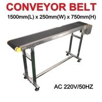 LY 120W double buffles Stainless Steel Bottle Conveyor Belt/Box/Bag/Sticker 1500mm length 200mm Width for Laser Marking Machine