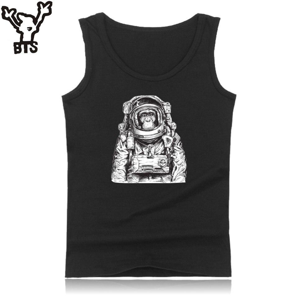 BTS King Kong Tank Top Men Bodybuilding Summer Sleeveless Fashion Space Orangutan Funny Tank Top Men Casual Streetwear 4XL Vest