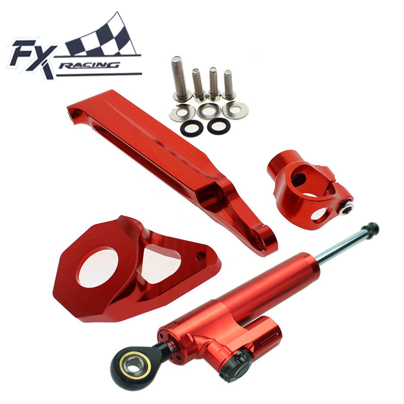 CNC Steering Damper Stabilizer Bracket Mount Kits For Honda CBR600RR 2005-2006