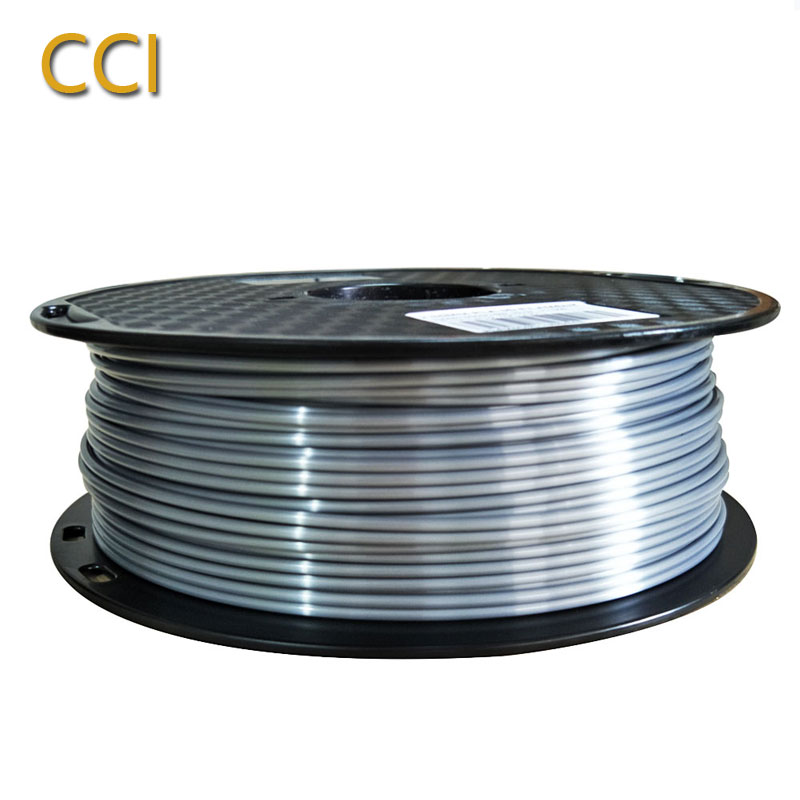 silk pla silver 2.85mm 1kg 3d printer filament pla silky shiny 1KG 3D pen printing material silk like feel PLA Metal like silver-in 3D Printing Materials from Computer & Office on AliExpress - 11.11_Double 11_Singles' Day 1