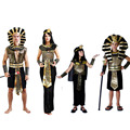 Egypt Prince Princess Pharaoh Cosplay Costume for Women Man Boy Girl Carnival Halloween Costume Family Party