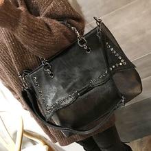 Natural cavalo cabelo bolsa feminina de luxo estilo rua rebite preto crossbody saco para mulheres designer de couro do plutônio superior alça