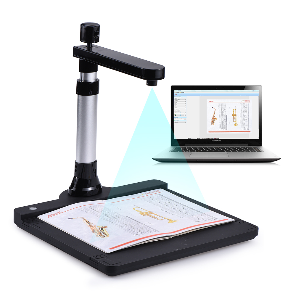 Dual Lens 10 Mega-pixel HD A3 Document Scanner OCR Camera Documents Book Scanner Office Book Image Document Camera A4 A5 Scanner чистящий набор cactus cs s3003