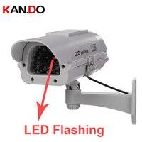 2300 Big Sizer Outdoor Waterproof Imitation CCTV Camera Scaring Camera W IR LED Flashing Solar Dummy