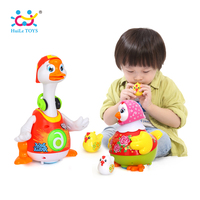 Hot Selling Children Educational Dancing Hen and Whistle Chick & Dancing Goose HUILE TOYS 828&6102