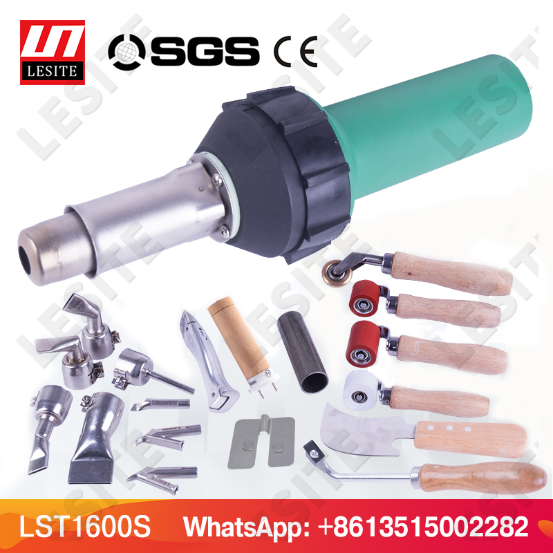 Hot Air Plastic Welding Gun Pistola Blower Pvc Banner Welder Tarpaulin Welding Tools For Plating Tank Car Bumper LESITE LST1600S