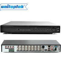 New 1080P AHD H Hybrid 16 Channel AHD DVR Recorder 3 In 1 Hybrid DVR 16ch