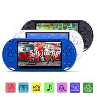 5.0 pulgadas Portátil de Mano Consola de Juegos Retro Estilo de Vídeo MP3 Reproductores De Juegos Portátiles reproductor de Cámara Con 8G de Memoria Soporte de TV fuera