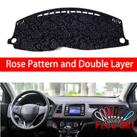 Rose Pattern For Honda vezel 2015 2016 2017 2018 Dashboard Cover Car Stickers Car Decoration Car Accessories Interior Car Decals