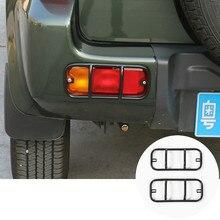 Для Suzuki Jimny Черный/Красный Металл Автомобиль Задний Бампер Противотуманные Фары Рама Накладка 2007-2015 2 шт.