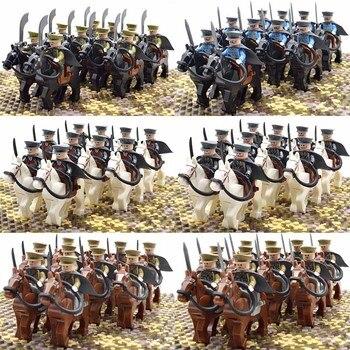 WW2 Offiziere Kavallerie Krieg Pferd Frankreich Italien Deutsch Japan UNS UK China Russland Soldaten Bausteine Ziegel Kinder Spielzeug