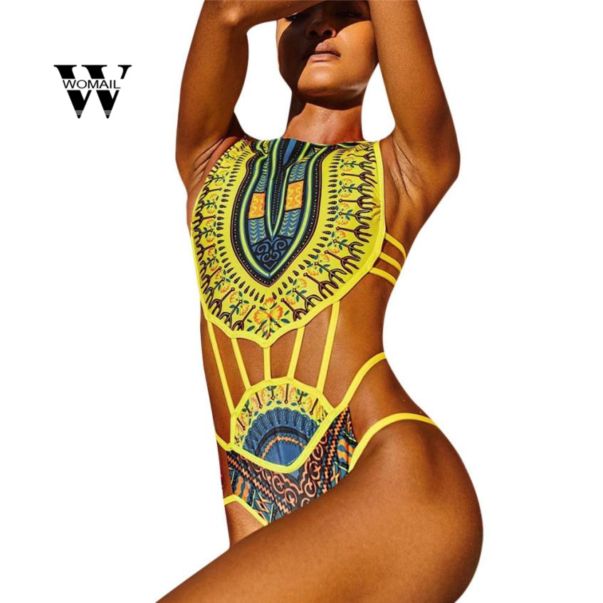 Sports & Entertainment Kancolle Clothes Solid Sexy Swimsuit Women 2019 Curve Appeal African Printing Push-up Padded Bra Beach Jumpsuit Swimwear Women Swimming