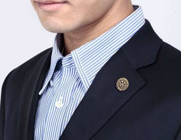 2015 New Vintage Style Lion Head Portrait Brooch,Man Lapel