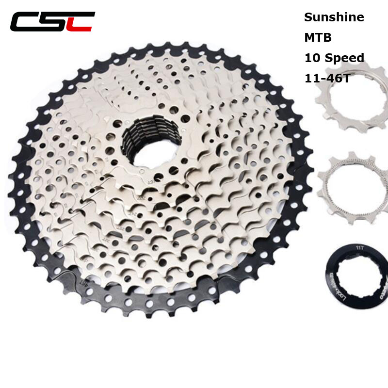 10 Speed 11-46T MTB Cassette Road Mountain Bike Bicycle Freewheel Flywheel 10S