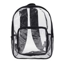 Fashion Women Transparent PVC Clear Backpack Travel Shoulder Bag School Bookbags