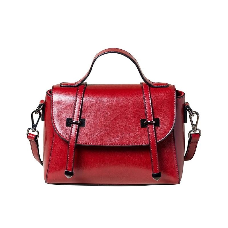 ФОТО 2017 women messenger bag new simple shoulder crossbody leather bag small square bag vintage oil wax leather handbag